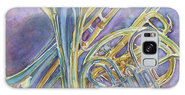 Trombone Galaxy Case - Three Horns by Jenny Armitage