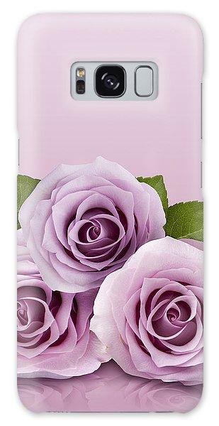 Three Lilac Roses Galaxy Case