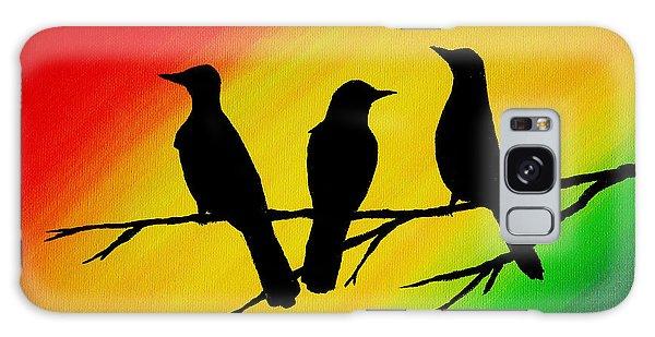 Song Bird Galaxy Case - Three Little Birds Original Painting by Michelle Eshleman