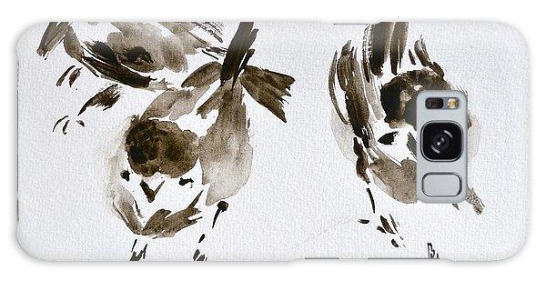 Three Little Birds Perch By My Doorstep Galaxy Case