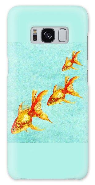 Fish Galaxy S8 Case - Three Little Fishes by Jane Schnetlage