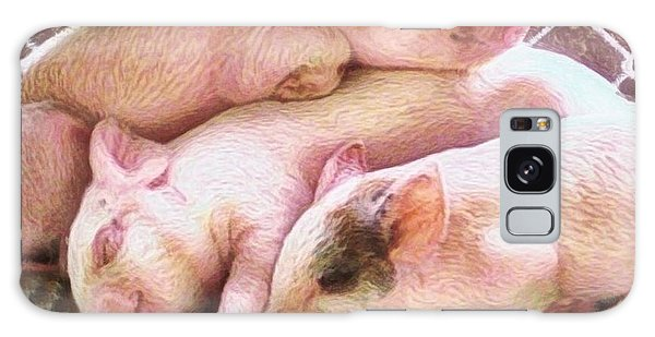 Three Little Piglets - Square Galaxy Case by Lyn Voytershark