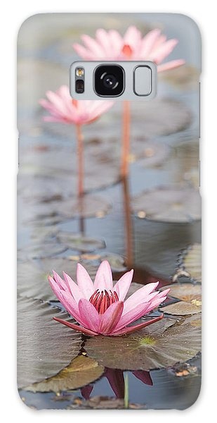 Three Lotus Flowers Galaxy Case