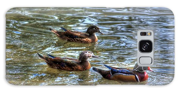 Three Mallard Ducks Galaxy Case
