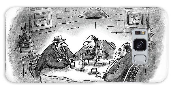 Three Mobsters Sit Underneath A Lamp In A Dark Galaxy Case