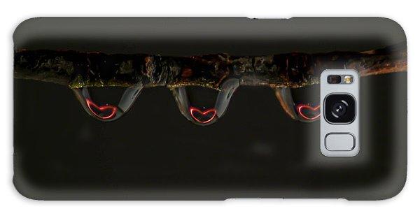 Three Of Hearts Galaxy Case by Patrick Shupert