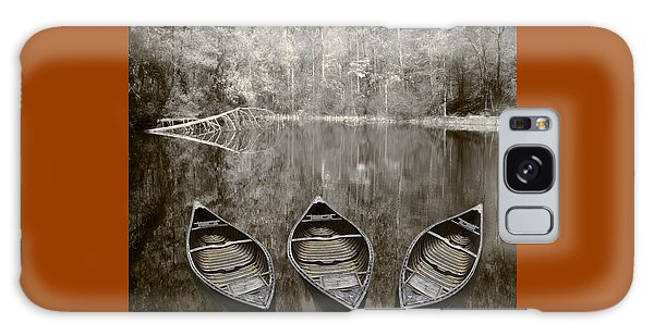 Three Old Canoes Galaxy Case