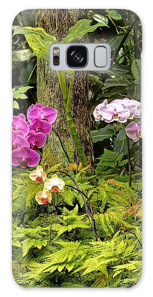 Three Orchid And A Tree Galaxy Case