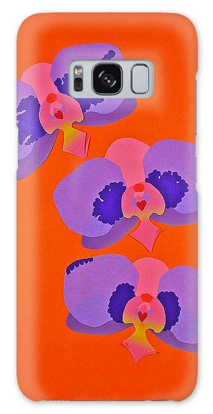 Three Orchids Galaxy Case by Michele Myers