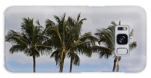 Three Palm Trees Galaxy Case by P S