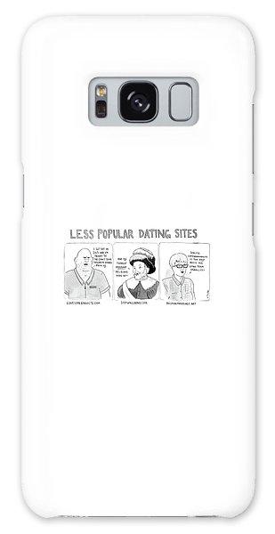 Three Panel Cartoon Of Online Dating Profiles Galaxy Case