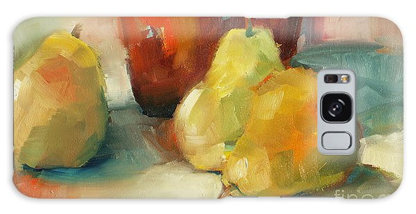 Three Pears And A Pot Galaxy Case by Michelle Abrams