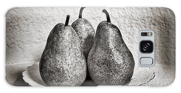 Three Pears On A Plate Galaxy Case