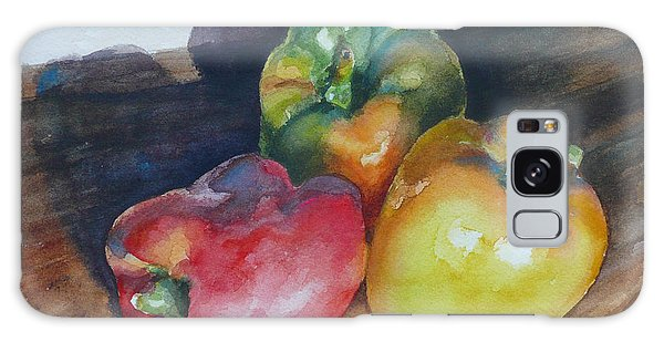 Three Peppers Galaxy Case