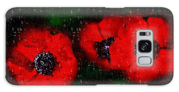 Three Poppies Galaxy Case