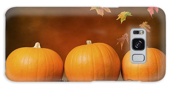 Pumpkin Galaxy S8 Case - Three Pumpkins by Amanda Elwell