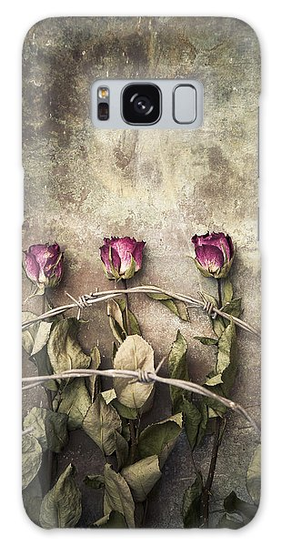 Three Roses And Barbed Wire Galaxy Case
