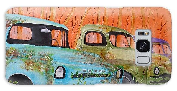 Three Rusty Trucks Galaxy Case by Isaac Alcantar