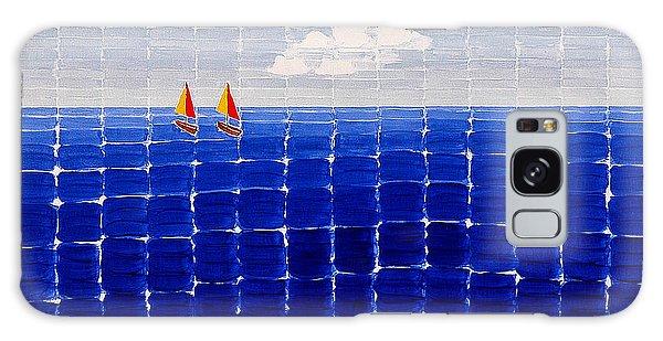 Three Sail Boats #2 Galaxy Case