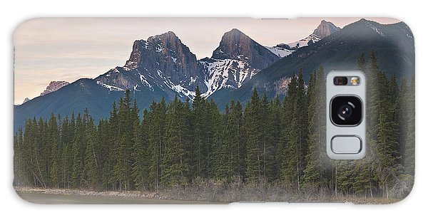 Three Sisters And Bow River Canmore Galaxy Case