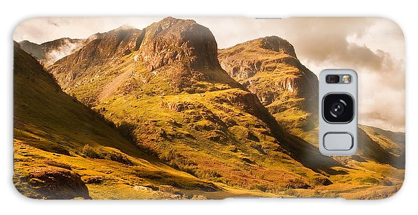 Three Sisters. Glencoe. Scotland Galaxy Case by Jenny Rainbow