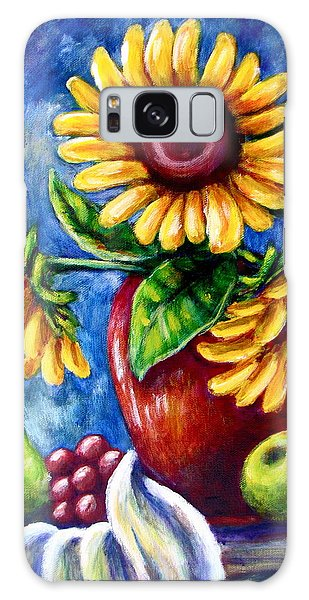 Three Sunflowers And A Pear Galaxy Case
