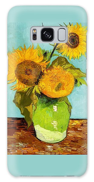 Three Sunflowers In A Vase Galaxy Case
