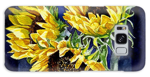Three Sunny Flowers Galaxy Case