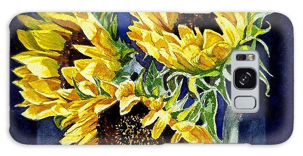 Three Sunny Flowers Galaxy Case by Irina Sztukowski