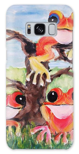 Three Tee Frogs Galaxy Case
