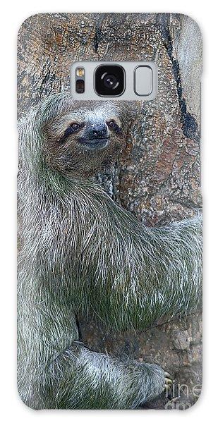 Three Toed Sloth Galaxy Case by Anne Rodkin