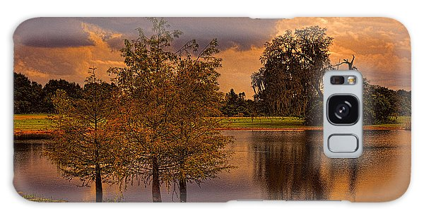 Three Trees In The Pond 2 Galaxy Case by Lewis Mann