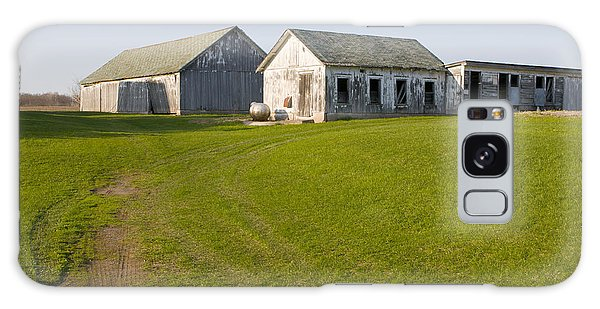 Three Weathered Farm Buildings Galaxy Case