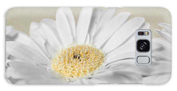 Three White Daisies Galaxy Case by Eden Baed