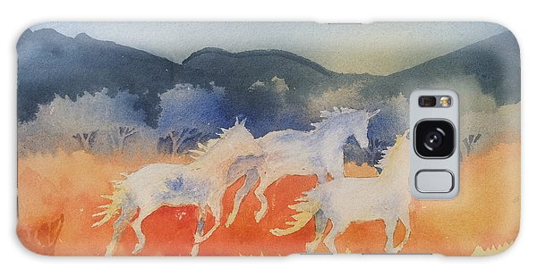 Three Wild Horses Galaxy Case