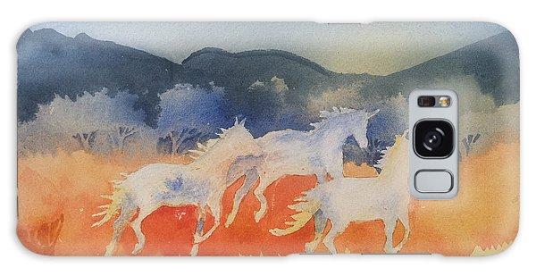 Three Wild Horses Galaxy Case by Christine Lathrop
