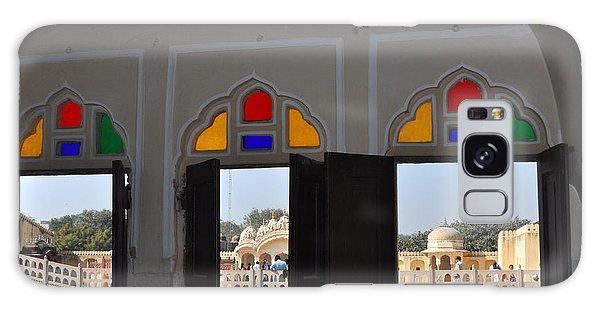 Three Windows At The Hawa Mahal Jaipur Rajashan India Galaxy Case