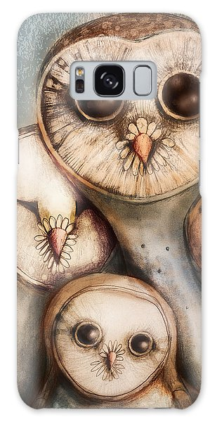 Owl Galaxy Case - Three Wise Owls by Karin Taylor