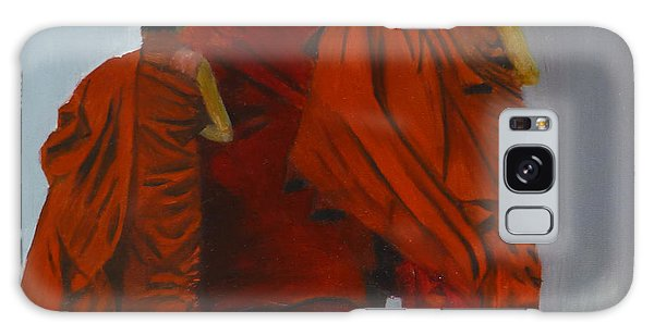 Three Young Monks Galaxy Case