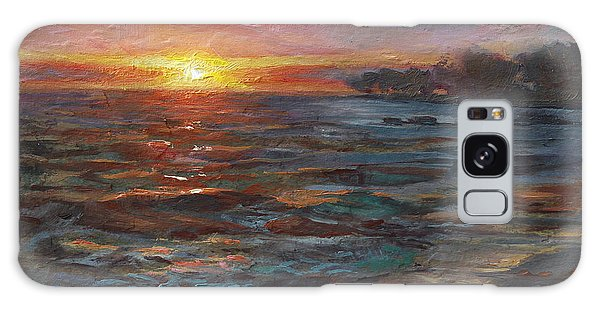Through The Vog - Hawaii Beach Sunset Galaxy Case
