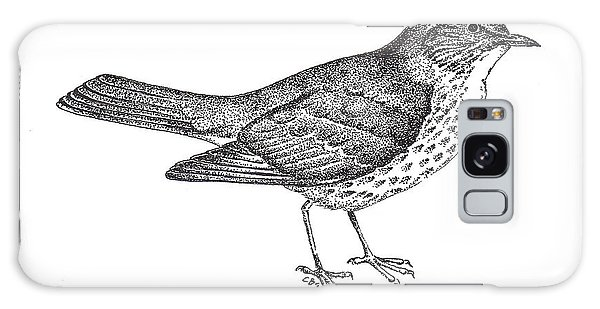 Song Bird Galaxy Case - Thrush Bird Drawing by Christy Beckwith