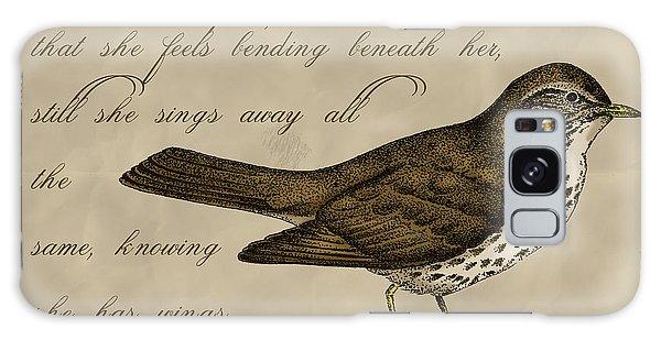 Song Bird Galaxy Case - Thrush Bird Wall Art by Christy Beckwith
