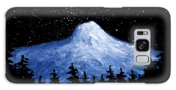 Thumb Butte By Moonlight Galaxy Case by Fred Wilson