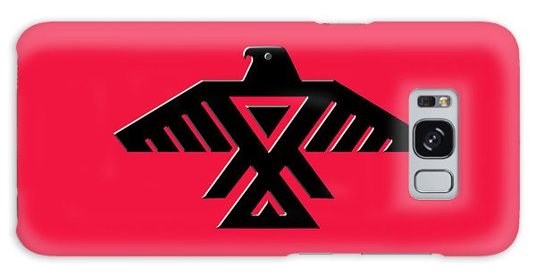 Thunderbird Emblem Of The Anishinaabe People Black On Red Version Galaxy Case