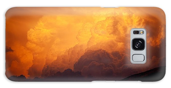 Galaxy Case featuring the photograph Thunderhead At Sunset by Brad Brizek