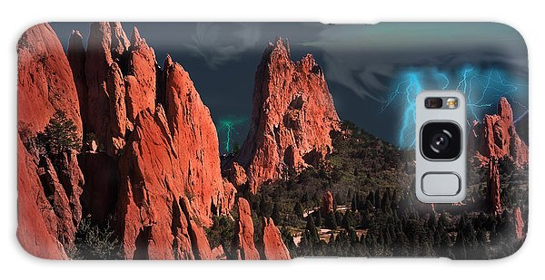 Thunderstorm At Garden Of The Gods Galaxy Case by J Griff Griffin