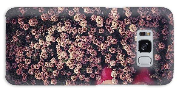 Pink Flower Galaxy Case - Thyme Carpet by Takako Fukaya