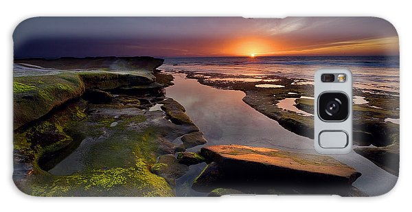 Tidepool Sunsets Galaxy Case by Peter Tellone