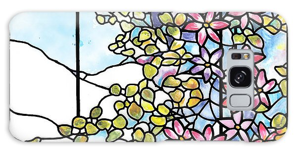 Stained Glass Tiffany Floral Skylight - Fenway Gate Galaxy Case by Donna Walsh