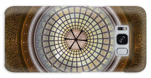 Cultural Center Galaxy Case - Tiffany Dome In Chicago Cultural Center by Steve Gadomski